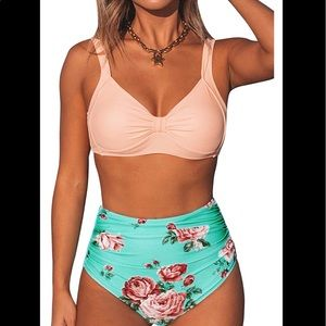 COPY - CupShe High-Waisted Bikini with Removable …